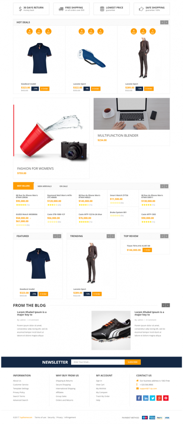 E-Commerce Theme - Super Shop
